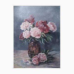 Armand Francoz, Nature morte aux pivoines et vase, 1947