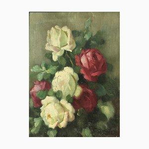 Paolo Alfio Graziani, Nature morte aux roses, 1956