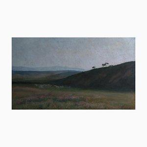 Margerite Massip, Paysage de Collines avec Pâtuurage, 1912