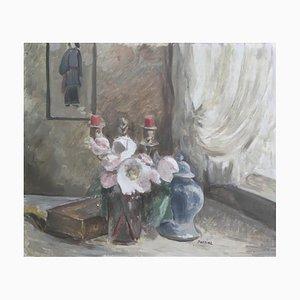 A. Perrier, Nature Morte au Bougeoir et à la Bonbonnière, 1946