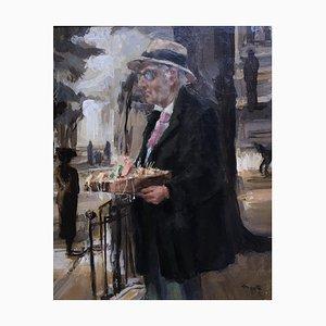 Edouard John Mentha, Le Vendeur de Rue, 1905
