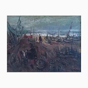 Alfredo Cini, Barques et Pêcheurs, 1940