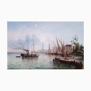 Victor Philipsen, Vue de Port, 1902