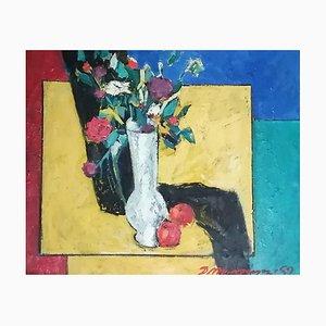 Dani Menkhtsetseg, Nature Morte Fleurs et Fruits, 1989