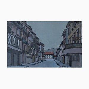 Marcel Ailloud, Rue du Village, 1971