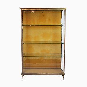 Brass Showcase with 3 Glazed Sides