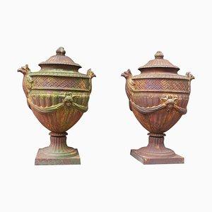 Large Cast Iron Basins, Set of 2