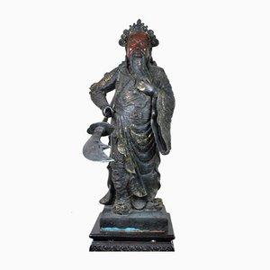 Grande Sculpture en Bronze de Guangyu, Chine, 20ème Siècle