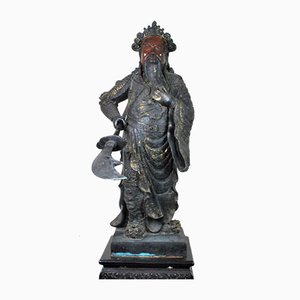 Large Bronze Sculpture of Guangyu, China, 20th Century