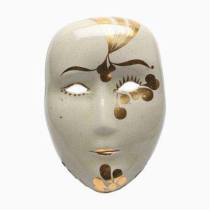 Vintage Stoneware Geisha Wall Mask by Lisa Larson for Gustavsberg