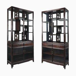 Showcase Centre Cabinets, China, 19th Century, Set of 2