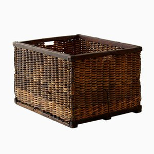 Antique French Wicker Basket