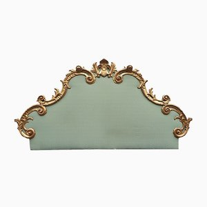 Headboard in Carved Giltwood, Italy, Mid-20th Century