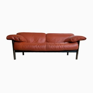 Italian Leather Sofa from Poltrona Frau, 1970s