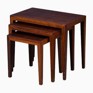 Tables Gigognes par Severin Hansen pour Haslev Møbelsnedkeri, Danemark, 1960s, Set de 3