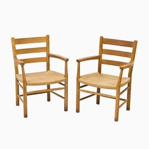 Dänische Eichenholz & Papierkordel Sessel von Viggo Hardie-Fischer für Sorø Stolefabrik, 1950er, 6er Set