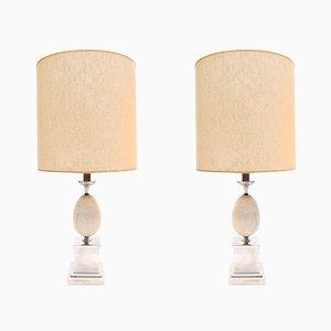 Modernistische Tischlampen von Maison Barbier, 1970er, 2er Set