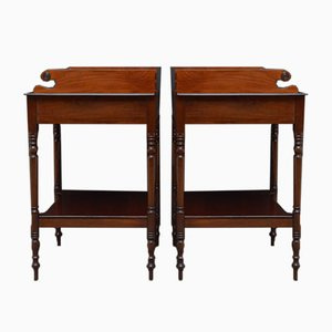 Georgian Washstands or Bedside Tables, Set of 2