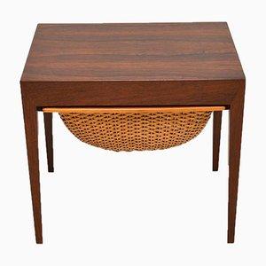 Vintage Danish Sewing Table by Severin Hansen for Haslev Møbelsnedkeri