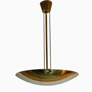 Brass Disc Ceiling Lamp by Kalmar Austria