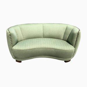 Danish Banana-Shaped Sofa, 1940s