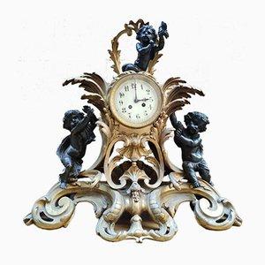 Horloge Pendule Style Louis XV en Bronze