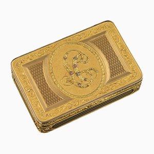 Antike österreichische 18k Gold Schnupftabakdose von Felix Paul, 1810