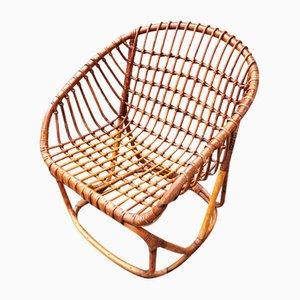 Rattan Armchair, Italy, 1950s