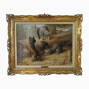 Cane con due gatti, 1868, Richard S. Moseley