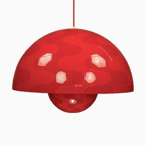 Très Grande Lampe à Suspension Flowerpot par Verner Panton pour Louis Poulsen, 1970s