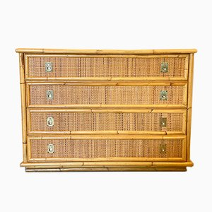 Wicker & Bamboo Chest of Drawers from Dal Vera, 1970s