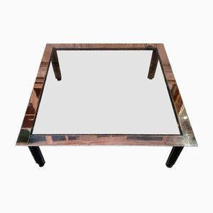 Glass & Stainless Steel Coffee Table