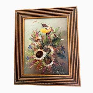 Floral Still Life, Painting by L. Königer