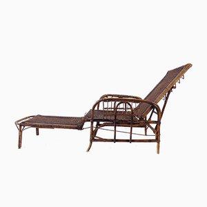 Bauhaus Rattan Garden Seat by Erich Dieckmann