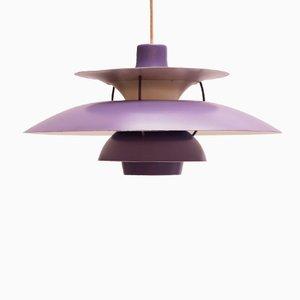 Lampe à Suspension, Modèle PH5, Lavande par Poul Henningsen pour Louis Poulsen, 1958