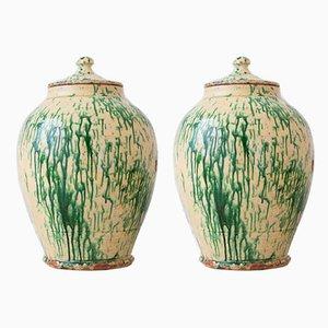 19th Century Italian Ceramic Pots, Set of 2
