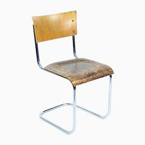 Chaise de Bureau Tubulaire Tchécoslovaque par Kovona, 1950s