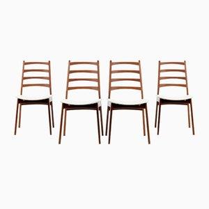 Mid-Century Teak Dining Chairs, 1960s, Set of 4
