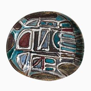 Italian Ceramic Plate, 1950s