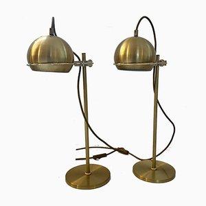Goldene Vintage Tischlampe aus Metall, 1970er, 2er Set