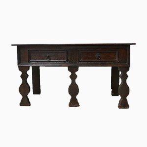 Antikes Englisches Eichenholz Sideboard