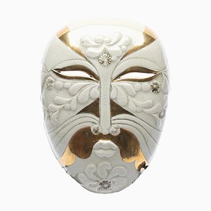 Vintage Stoneware Demon Wall Mask by Lisa Larson for Gustavsberg