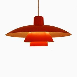 Lampada a sospensione PH 4/3 arancione di Poul Henningsen per Louis Poulsen