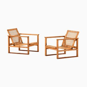 Model Bm-2256 Sled Chairs by Børge Mogensen for Fredericia Furniture, Set of 2