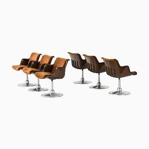 Esszimmerstühle von Yrjö Kukkapuro für Haimi, Finnland, 6er Set