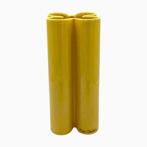 Yellow Ceramic Vase by Pierre Cardin, 1970s
