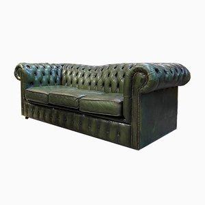 Grünes Chesterfield Sofa