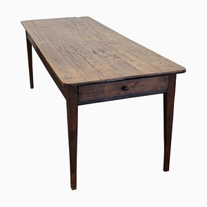 Antique Oak French Farmhouse Dining Table, 19th-Century