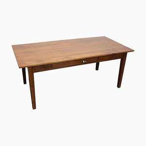 Vintage French Farmhouse Oak Dining Table, 1950s