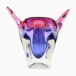 Mid-Century Cat Head Glass Vase by Josef Hospodka, 1960s